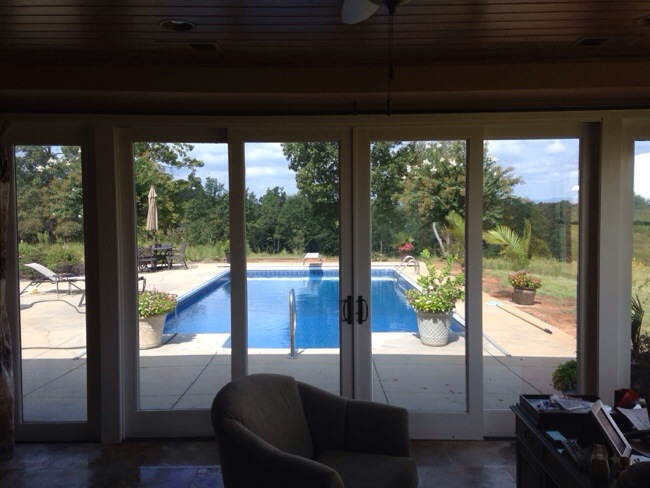 Mirror tint by the pool solar shield of seneca - Exterior window tint for homes ...